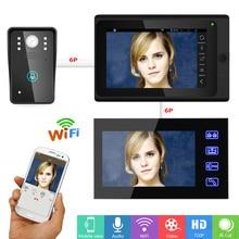 ENNIO SY705B816 7″ 2 Monitors Video DoorPhone video intercom Wired /Wireless Wifi System with  IR-CUT HD 1000TVL Wired Camera