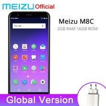 Meizu M8C 2 GB 16 GB Küresel Sürüm Cep Telefonları Snapdragon Qualcomm 425 Quad Core 5.45