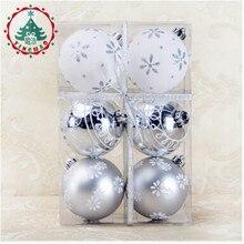 2017 Fashion 6pcs Xmas Decorative 8cm Ball Ornaments for Christmas Tree Decorations Christmas Balls for Home Decor