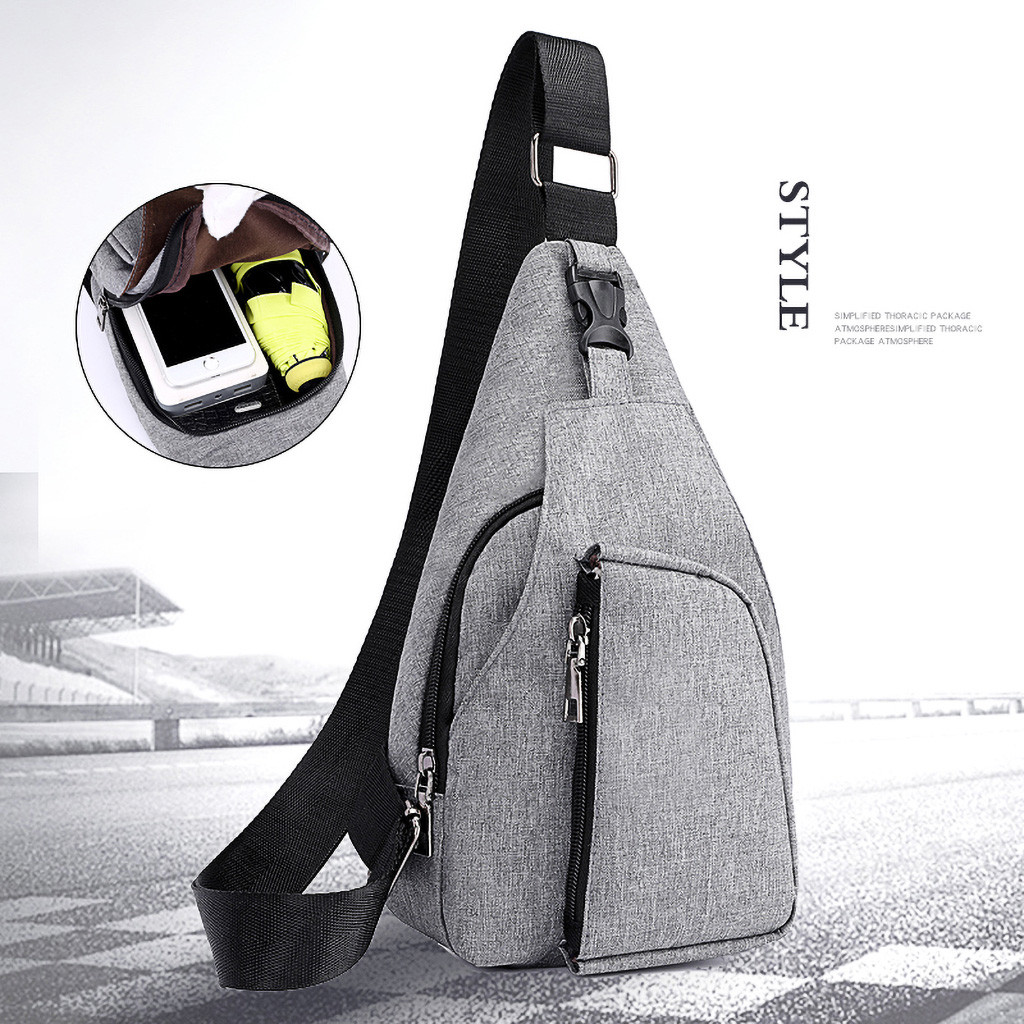 Fashion Men Oxford Cloth Chest Bag Sports Outdoor Leisure Multi-function Bag Chest Bag For 2019