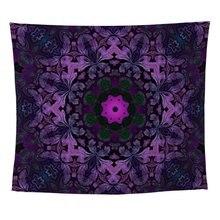 Tapiz de pared gótico Vintage púrpura abstracto Bohem picnic en la playa manta Camping tienda viaje colchón almohadilla para dormir
