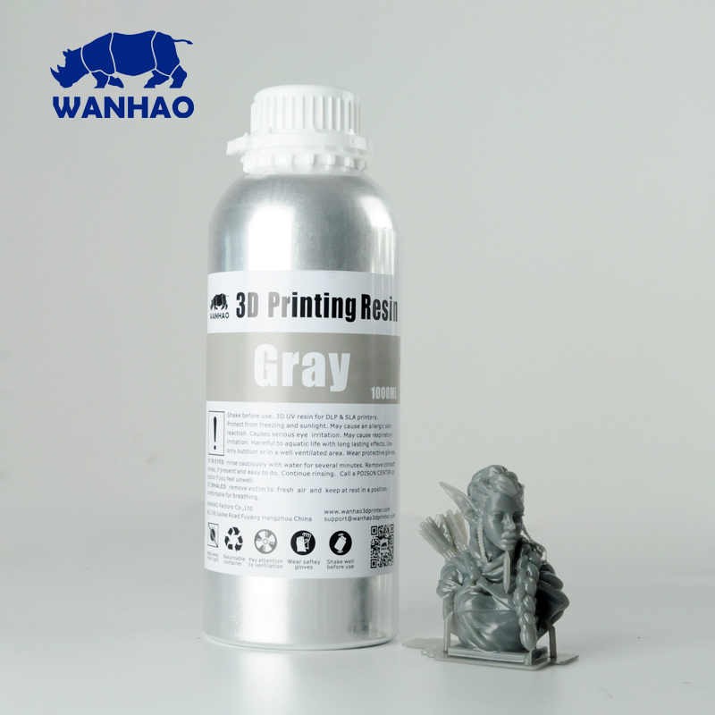 Cheap and High Quality Wanaho Water Washable Resin For Wanhao DLP SLA D7 3D Printer Gray Clear White Color 2L(1000ml/bottle)