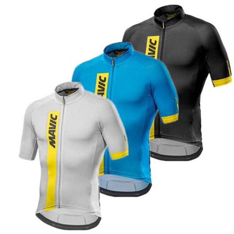 Mavic 2018 design Pro Team Cycling Jersey Ropa Ciclismo Quick-Dry Sports Jersey Cycling Clothing cycle bicycle Wear pro Jersey spakct men cycling clothing quick dry racing bike jersey bicycle cycle clothes ropa ciclismo cycling jersey page 1