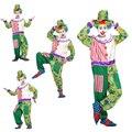 AliExpress доставка Хэллоуин косплей костюм взрослого клоун магическое шоу одежда цирковой клоун костюм смешно зеленая точка