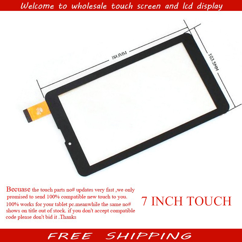 New 7'' inch Touch Screen Digitizer Panel For Prestigio MultiPad Wize 3038 3G PMT3038 3047 PMT3047 Tablet Sensor Free Shipping 10pcs lot new touch screen digitizer for 7 prestigio multipad wize 3027 pmt3027 tablet touch panel glass sensor replacement