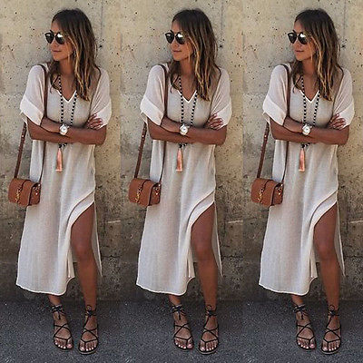 New Women BOHO Long Evening Party Prom Floral Summer Beach Maxi Dress Ladies Womens Casual Dresses