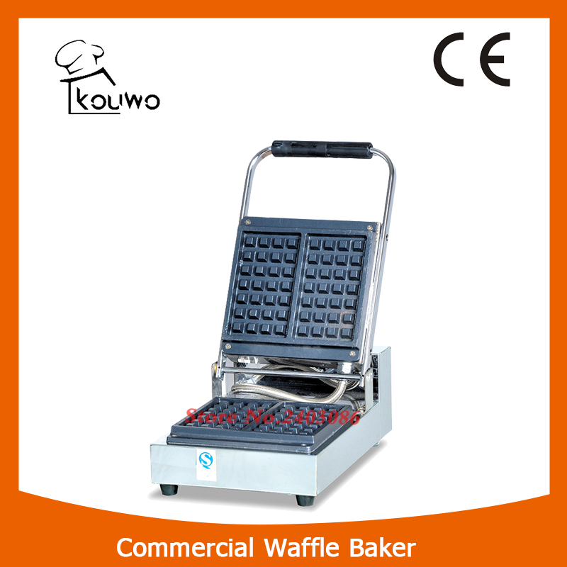 KW-1B stainless steel square belgian waffle maker machine for snack equipment fast food leisure fast food equipment stainless steel gas fryer 3l spanish churro maker machine