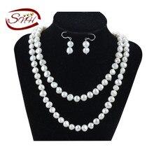 27bf2a54695 Snh colar e brinco conjunto de pérolas de água doce conjunto de jóias  original