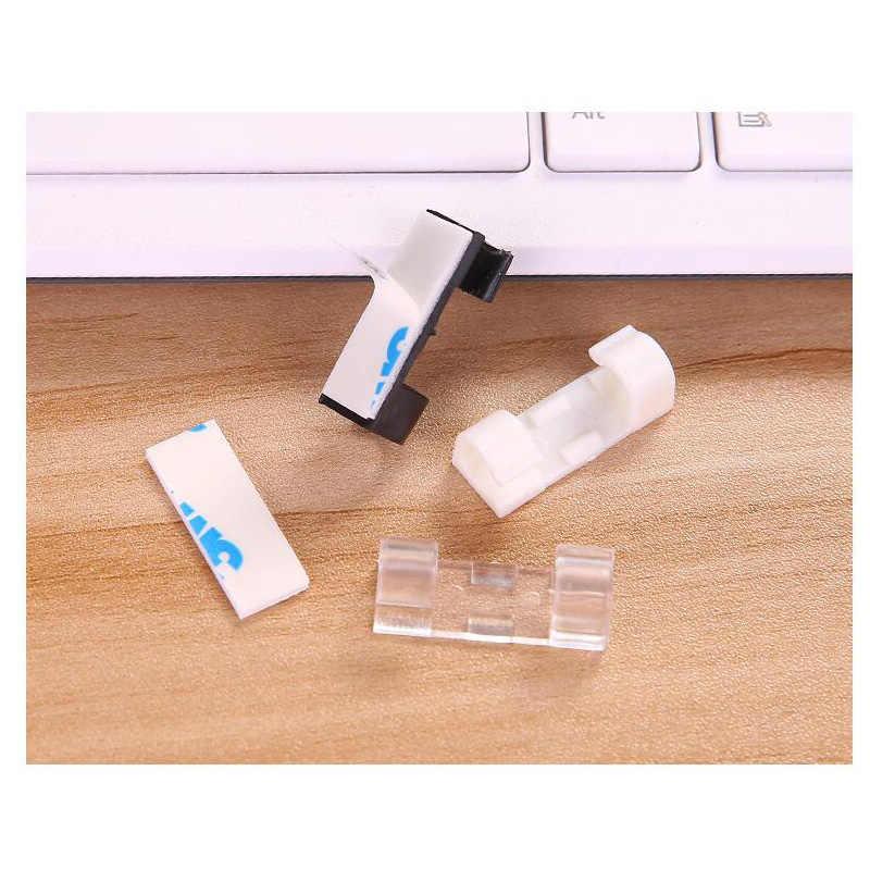 مشابك كابلات الأسلاك منظم سطح المكتب ومحطة العمل كليب الحبل إدارة حامل USB شحن كابل نقل بيانات كابل اللفاف