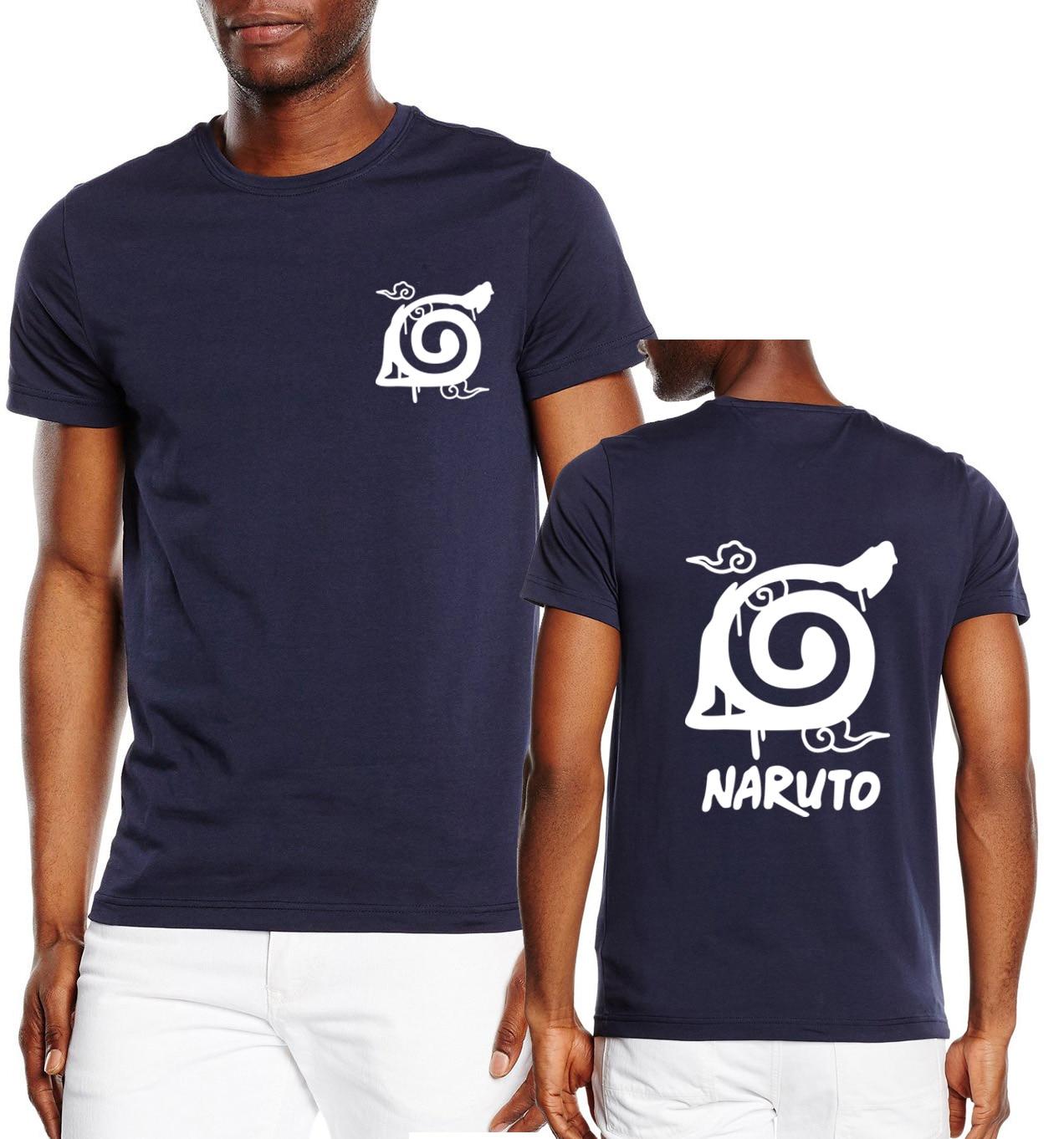 NARUTO Konaha/Kyubi Seal logo Printed Short Sleeve T Shirts (19 colors)