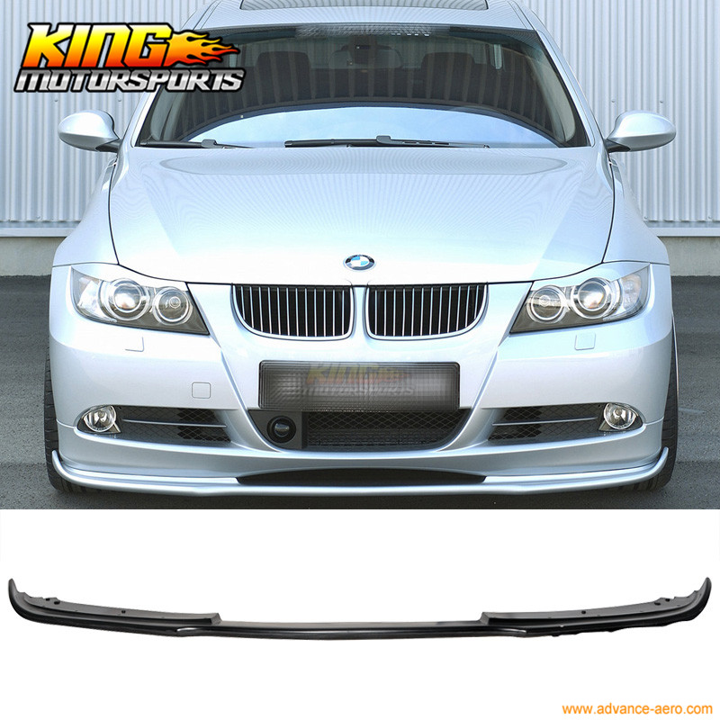 For 2005 2006 2007 2008 BMW E90 325 328 3-Series Urethane Type H Front Bumper Lip Spoiler pair car front headlamp clear lens headlight plastic shell clear cover for bmw e90 e91 2004 2005 2006 2007