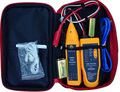 Wire Tracker Toner and Probe Network Cable Tester Telephone Cable Test Noise-Cancelling Yellow 9V 6F22 Tester