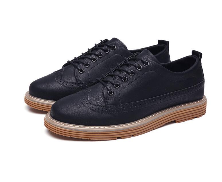 Calçados Sola Britânico Negócios brown Respirável Borracha Tecido Homens Sapatos Estilo De Masculinos Bullock Casuais grey Alta Black Dos Qualidade XwzqgrZXn