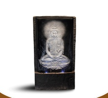 Buddha water fountains. People place feng shui humidifier arts and crafts