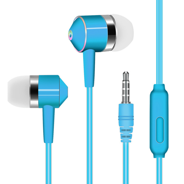 Noise reduction In-ear mobile phone headset line control  with wheat earphones universal mobile phone headset For Android