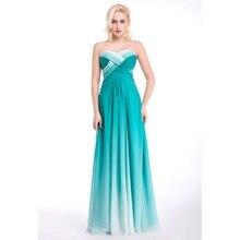 Heißer Verkauf Billig Farbverlauf Blau Abendkleider schnelle lieferung schatz backless langes abendkleid partei-kleid vestido de festa