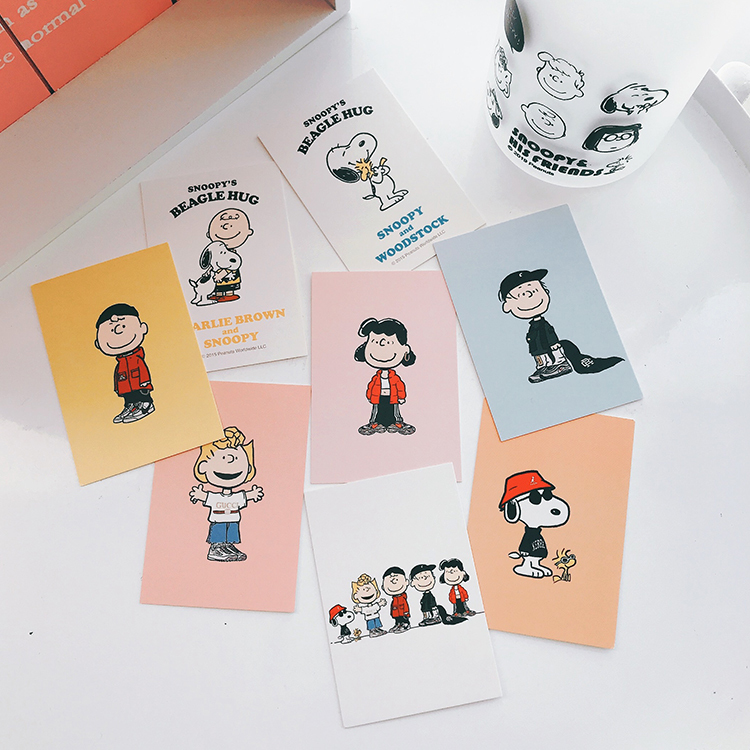 SIXONE 8 Sheets Cartoon Character Card Bookmark Wallet Decorative Cards Photo Background Decorative Wall