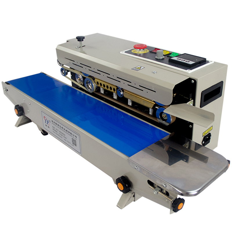 Commercial Plastic Bag Sealer Package Machine Continuous Film Band Sealer Horizontal Heating Sealing Packing Machine FR-770