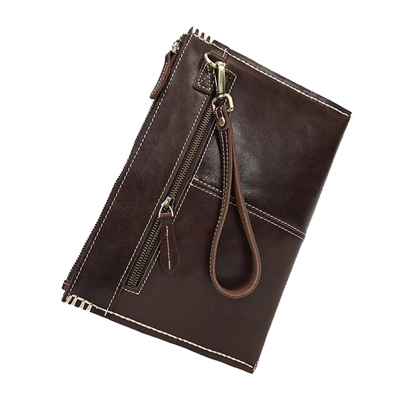 Nature Leather Document Folder Genuine Leather Document Bag Office School Supplies