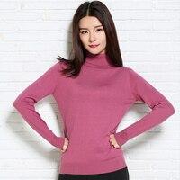 Klasyczny Cały Meczu Mody Stały kolor Szczupła Odzież damska red Miękkie dziewczyna Jesień Kaszmirowy Sweter Z Dzianiny Kobieta Ultracienkich