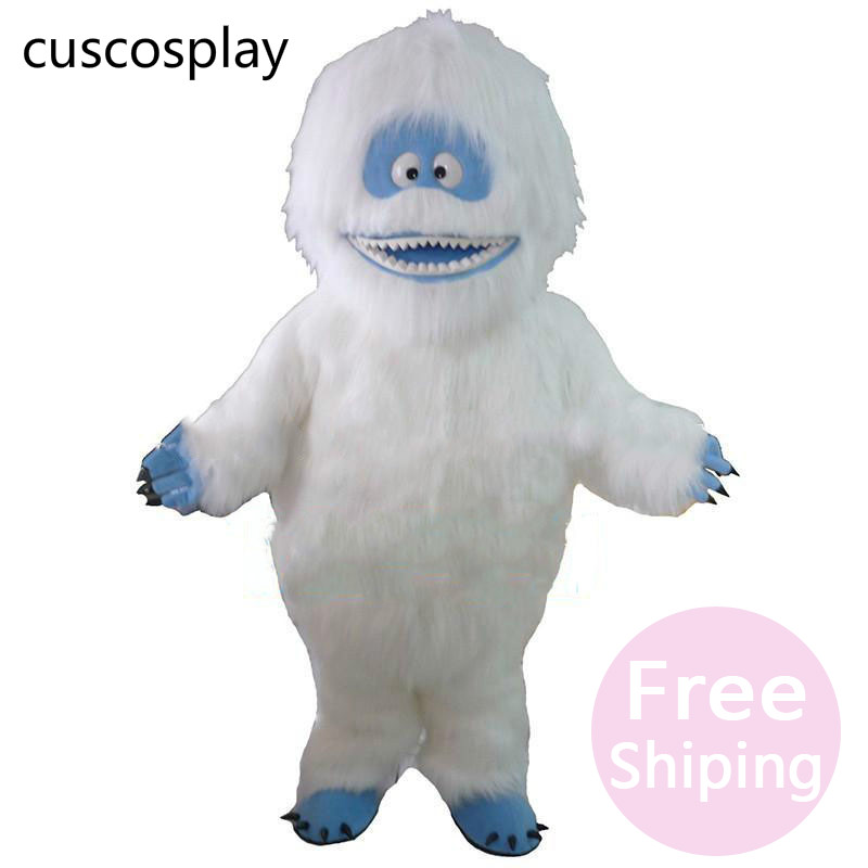 Anime Cartoon Yeti Abominable Snowman Mascot Costume Fancy Dress For Role Play Free Shipping