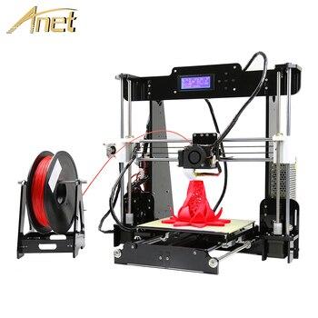 Anet A8 Impresora nivellement automatique/Normal I3 Imprimante 3D kit de bricolage en aluminium Hotbed cadeau 8G carte SD 10 M PLA Filament Imprimante 3D