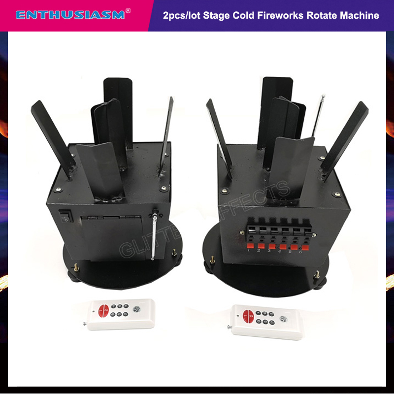 2pcs/lot Wireless Remote Control Cold Fireworks Rotate Wedding Machine