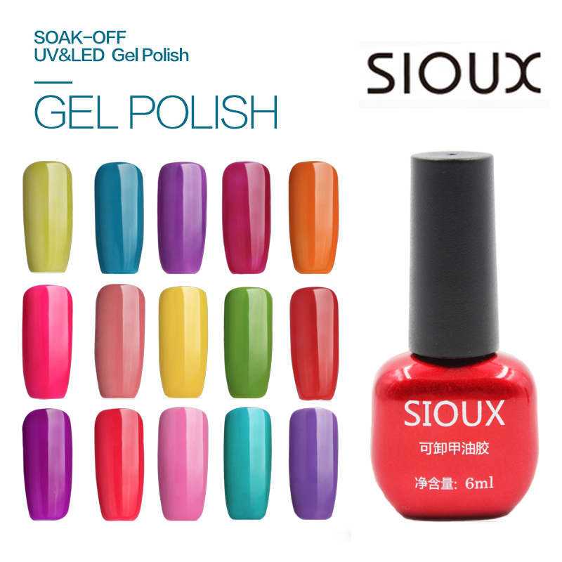 25-48 SIOUX 6ml UV-gel nagellack LED-lampa Långvarig Soak Off Billig Gelpolish Vernis Top Coat Lim 108 Color SI04