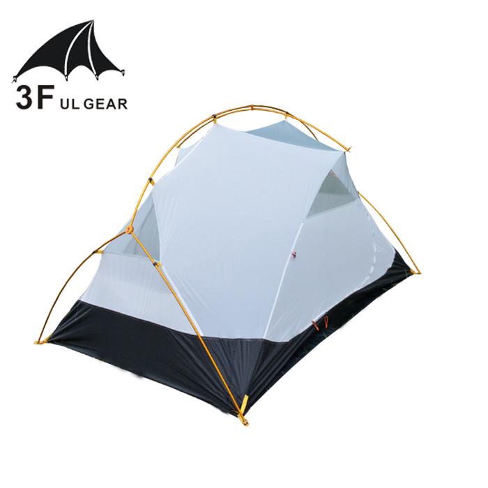 3F Ul Gear 40D silicone Tent Vents Ultralight Camping Tent Canopy 4 Season 2 Person Ultralight Inner Mesh tent Body 3 Season high quality outdoor 2 person camping tent double layer aluminum rod ultralight tent with snow skirt oneroad windsnow 2 plus