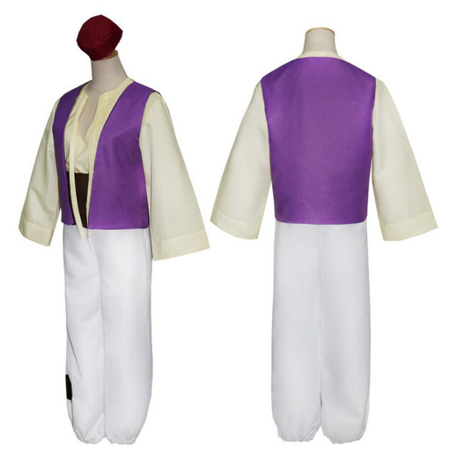 Genie Costume Aladdin Magic Lamp Prince Aladdin Cosplay Costumes Halloween  Classic Prom Suits For Adults