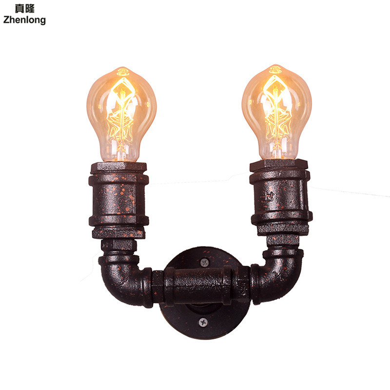 Steam Punk Loft Industrial Iron Rust Water Pipe Retro Wall Lamp Vintage E27 Sconce Lights Steampunk House Lighting Fixtures Led рамка despina 1 я mono electric бронза