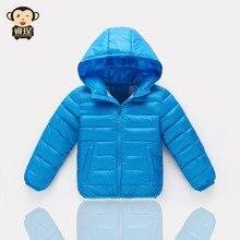 2016 Новый Высококачественный Классические Вниз Дети Зимняя Куртка Для девушки Из Гусиное Перо Куртка С Капюшоном Мальчик Парки Пальто дети