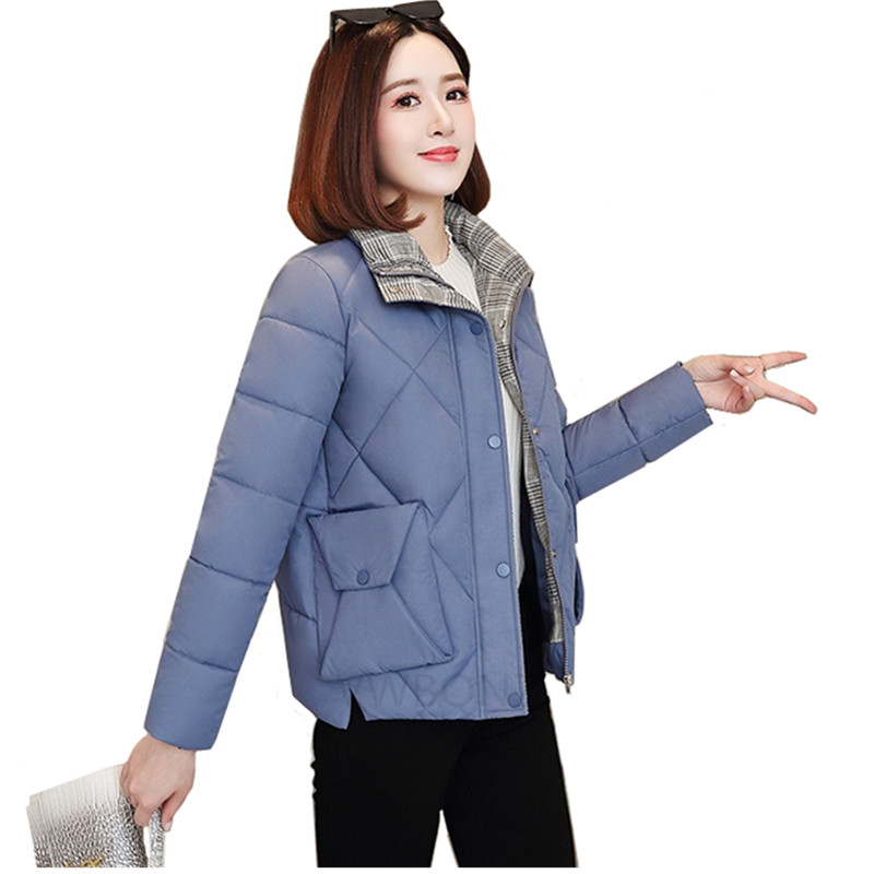 2019 Winter Jacket women Plus Size 3XL Womens   Parkas   Thicken Warm Outerwear Casual Short Female Slim Cotton padded basic Tops