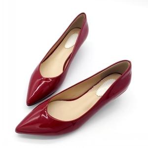 Image 1 - 2019 חדש מותג אביב משאבות נעלי נשים אופנה פטנט עור נשים 4cm גבוהה עקב אחת נעלי משרד ליידי נקבות הנעלה