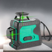 3D Green Laser Level Meter Automatically Leveling Vertical And Horizontal Green Laser Beam Cross Line Laser Level Outdoor Laser new electronic leveling green laser level 3d line meter remote control operation