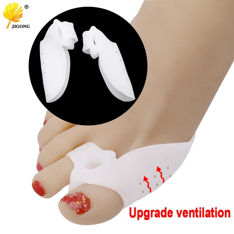 2pcs/set Breathable Gel Foot Care Tool Bunion Corrector Bone Big Toe Protector Hallux Valgus Straightener Toe Spreader Pedicure