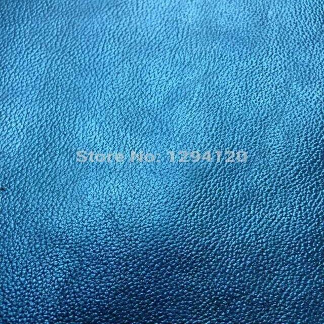 e0f315984e743 لامع الأزرق حقيقي جلد البقر الجلد النسيج ، نمط lichee ل أحذية حقيبة ، شحن