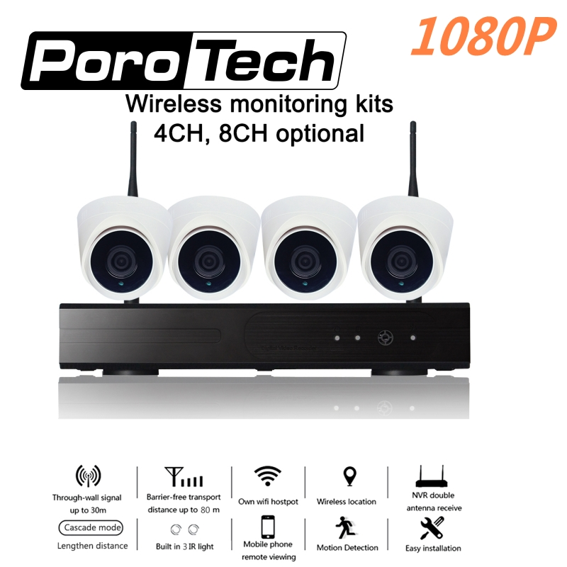 Free DHL 1080P Wireless CCTV System 4CH 8CH NVR kit IR night vision P2P Wifi IP CCTV Security Camera System Surveillance Kit