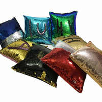 DIY Glitter Sequins Created Hot  Pillows cover Cafe Home Decorative Cushion Case Novelty toys geek play antistress toy Gift