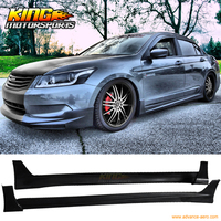 For 2008 2010 Honda Accord 4Dr Sedan Mugen Style Poly Urethane Side Skirt Extension USA Domestic Free Shipping