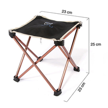 Lightweight Outdoor Aluminium Alloy Fishing Chair Portable Folding Chair Outdoor Camping Barbecue Folding Stool 23 x 23 x 25cm
