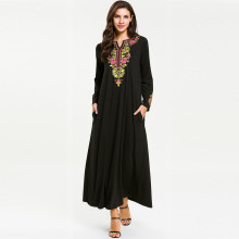 abayas for women muslim long abaya beautiful dresses Middle Eastern Long Dress Clothing Printed Flower Lady Y618
