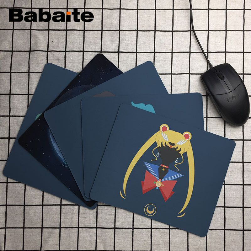 Babaite  Sailor Moon Customized Laptop Gaming Mouse Pad Size For 18X22cm Speed Version Gaming Mousepads