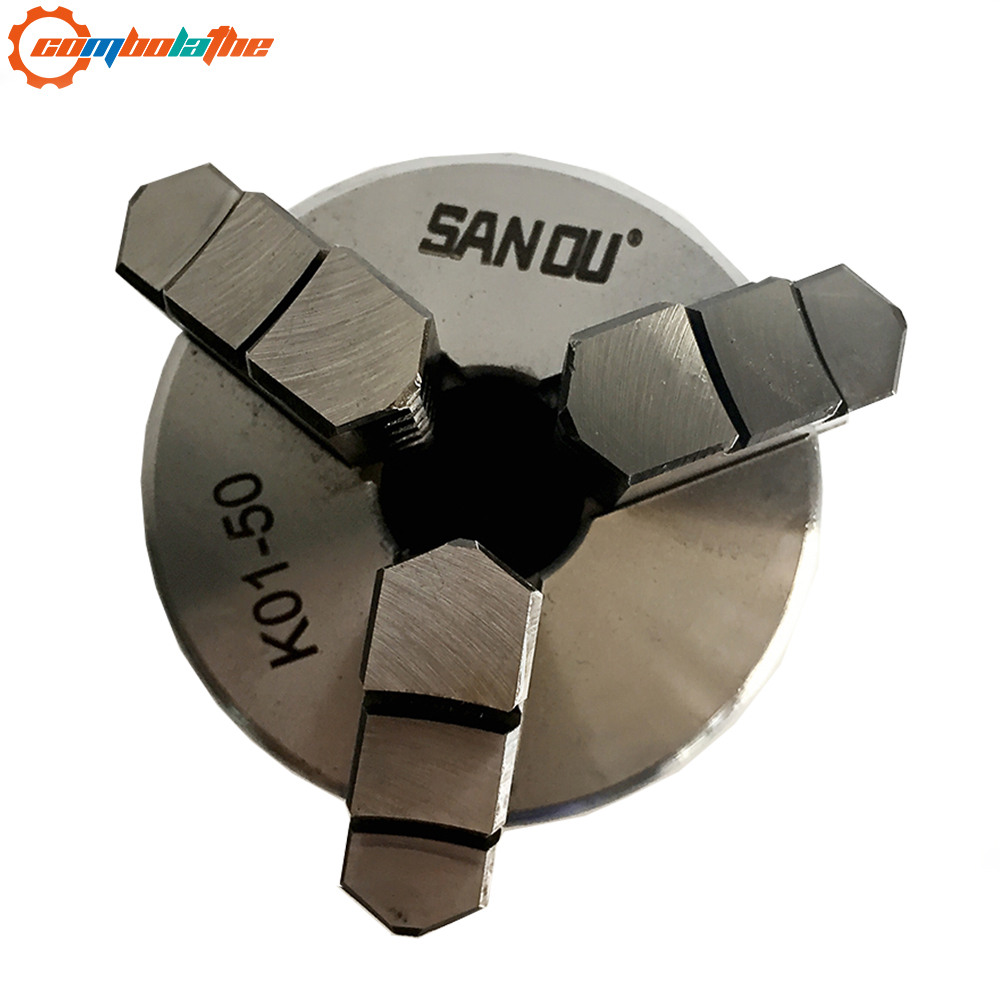 3 jaw self-tightening lathe chuck 50mm 2'' inch <font><b>K01</b></font>-<font><b>50</b></font> for sales image
