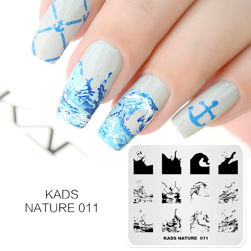 KADS Nail Stamping Plates 38 Design Various Series More Choices Manicure Stamping Template Image Plates For DIY Nail Decoration-in Nail Art Templates from Beauty & Health