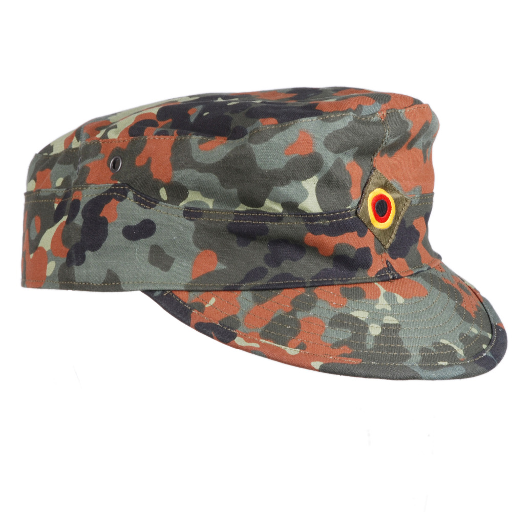 US $9 28 8% OFF|GERMAN ARMY FLECKTARN CAMO MILITARY CAMOUFLAGE FIELD CAP  HAT SIZE L 36297-in Men's Sun Hats from Apparel Accessories on  Aliexpress com