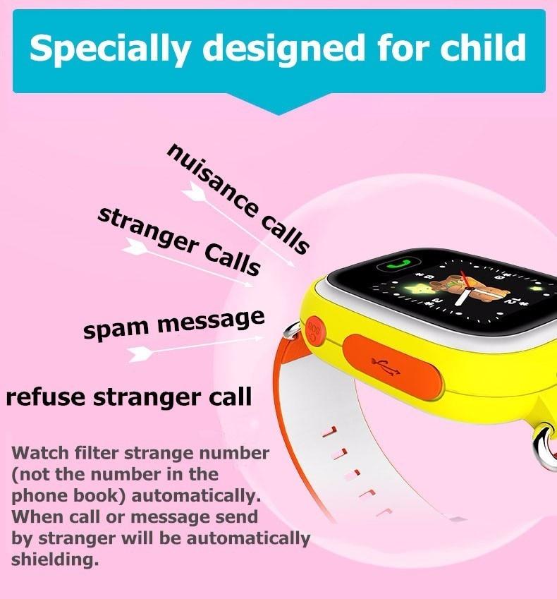 Slimy Q90 Smart Baby Watch Phone GPS Tracker for Kids Children 2G SOS Call Sleep Pedometer Touch Screen Smartwatch PK Q50 Q100