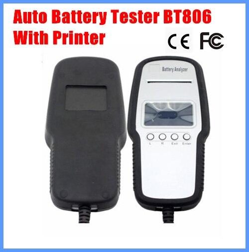2013 analyseur automatique BT806 de batterie de voiture d'appareil de contrôle de batterie avec les langues d'imprimante passent le CE, certification d'oem de FCC acceptable