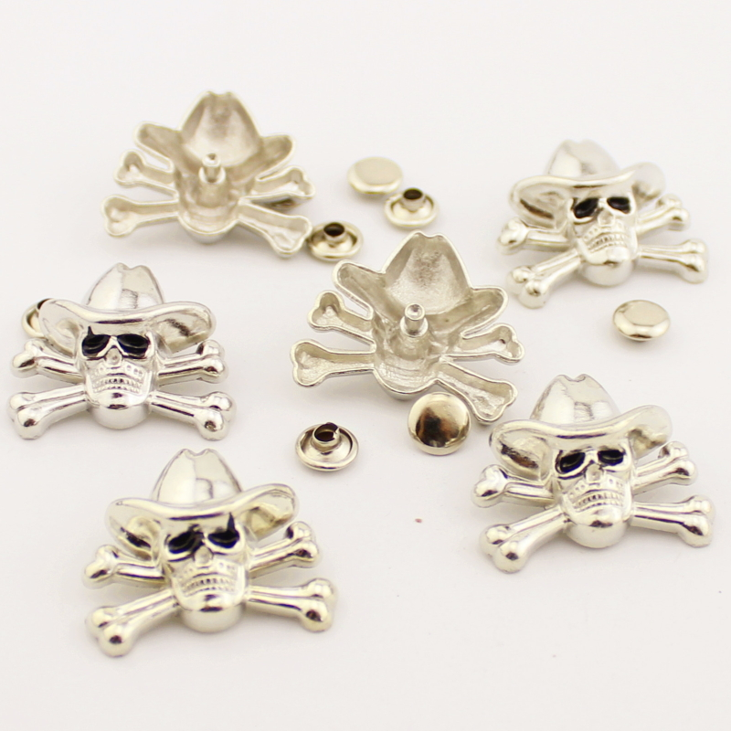 5 pcs alloy skull rivets silver bronze punk studs for clothing garment rivets for leather diy accessory for|Garment Rivets| |  -