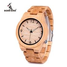 BOBO BIRD Natural Bamboo Luxury Wood Strap Men's Watches Wit